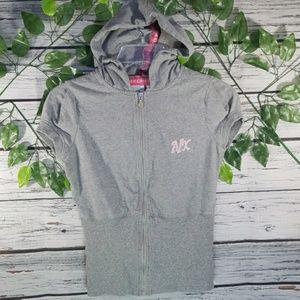 Armani Exchange short sleeve hooded sweatshirt Sm